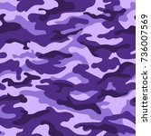 military camouflage seamless... | Shutterstock .eps vector #736007569