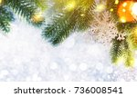 christmas and new year s... | Shutterstock . vector #736008541