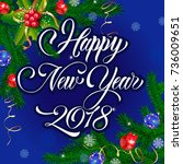beautiful new year greeting card | Shutterstock .eps vector #736009651