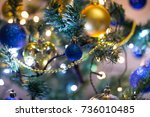 christmas tree toys | Shutterstock . vector #736010485