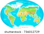 the world geographical map.... | Shutterstock . vector #736012729