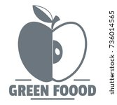 green food logo. vintage... | Shutterstock .eps vector #736014565