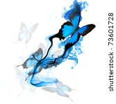 beautiful butterfly design | Shutterstock . vector #73601728