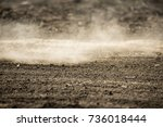 dirt fly after motocross... | Shutterstock . vector #736018444
