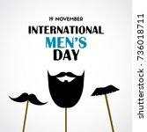 international mens day greeting ... | Shutterstock . vector #736018711