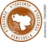 vintage venezuela south... | Shutterstock .eps vector #736019887