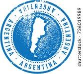 vintage argentina south... | Shutterstock .eps vector #736019989