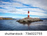 les eclaireurs lighthouse is... | Shutterstock . vector #736022755