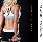 picture of sportswoman in good... | Shutterstock . vector #73602415