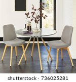 spacious dining room. interior... | Shutterstock . vector #736025281