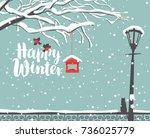 Vector Winter Scene At The Sno...