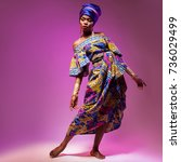 national costume african woman  ... | Shutterstock . vector #736029499