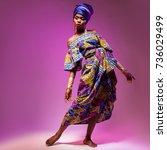national costume african woman  ...   Shutterstock . vector #736029499