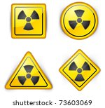 nuclear symbol  carefully... | Shutterstock .eps vector #73603069