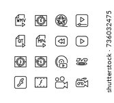 miscellaneous icon set of... | Shutterstock .eps vector #736032475