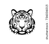 vector tiger head  face  for... | Shutterstock .eps vector #736036015