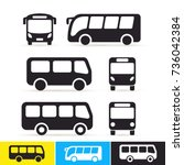 set of bus icon. vector... | Shutterstock .eps vector #736042384