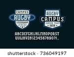 serif font in the sport style...   Shutterstock .eps vector #736049197