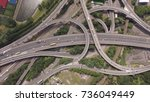 spaghetti junction birmingham | Shutterstock . vector #736049449
