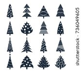 set of vector icons of... | Shutterstock .eps vector #736049605