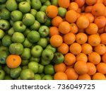 A Mix Of Fresh Orange And Gree...