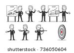 group of business people.... | Shutterstock .eps vector #736050604