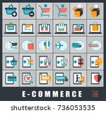 collection of icons for... | Shutterstock .eps vector #736053535