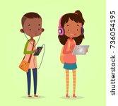 cute vector illustration for... | Shutterstock .eps vector #736054195