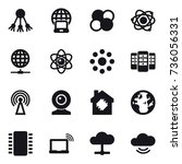 16 vector icon set   share ... | Shutterstock .eps vector #736056331