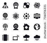 16 vector icon set   share ... | Shutterstock .eps vector #736056331