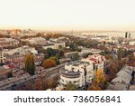 aerial view to odessa  roofs ... | Shutterstock . vector #736056841