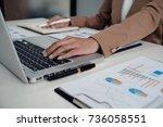 business people meeting design... | Shutterstock . vector #736058551
