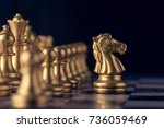 chess on a chessboard at black... | Shutterstock . vector #736059469