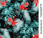 watercolor seamless pattern...   Shutterstock . vector #736068979