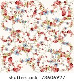 flower background vector... | Shutterstock .eps vector #73606927