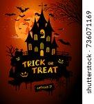halloween poster  night... | Shutterstock . vector #736071169