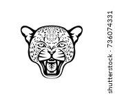 vector leopard head  face  for...   Shutterstock .eps vector #736074331