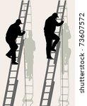 image of working on a high... | Shutterstock . vector #73607572