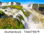 iguazu falls  cataratas del...   Shutterstock . vector #736075879