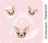 cute feminine seamless pattern... | Shutterstock .eps vector #736081339