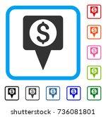 money map marker icon. flat...