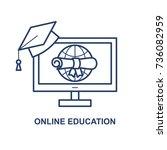 online education vector concept.... | Shutterstock .eps vector #736082959