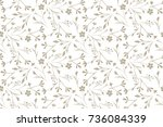 delicate pattern in small... | Shutterstock .eps vector #736084339