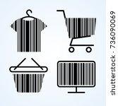 black friday shopping icon... | Shutterstock .eps vector #736090069