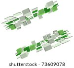 abstract 3d checked  business... | Shutterstock . vector #73609078
