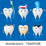 human teeth characters | Shutterstock .eps vector #73609108