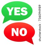 yes and no icon.  simple... | Shutterstock . vector #736094989