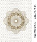 brown passport style rosette | Shutterstock .eps vector #736097611