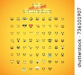 yellow emoticon face set ... | Shutterstock .eps vector #736101907
