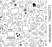seamless pattern of hand drawn... | Shutterstock .eps vector #736102771